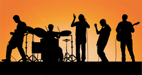 Live-Band-shadow
